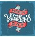 Happy valentines day vintage poster vector image vector image