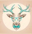 hipster animal deer hand drawing muzzle deer vector image vector image