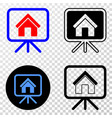house project board eps icon with contour vector image