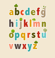 Letters With Flowers Alphabet vector image