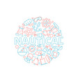 marine concept nautical pictures fish boat sea vector image vector image
