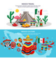 mexico travel banners vector image