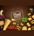 mixed pasta background vector image