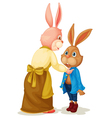 Mother and son rabbit vector image vector image