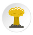 mushroom cloud icon circle vector image vector image