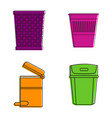 office can icon set color outline style vector image