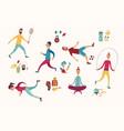 people sport activities dieting fitness vector image vector image