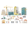 Process Construction of Residential Houses vector image vector image