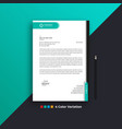 professional creative business letterhead design vector image