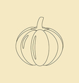 Pumpkin Vegetable Icon vector image