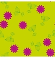 Purple flower with leaves seamless pattern