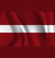 realistic waving flag latvia fabric vector image vector image
