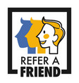 refer friend isolated icon share internet media vector image vector image