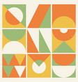 retro background with abstract geometric elements vector image vector image