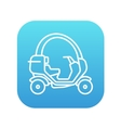 Rickshaw line icon vector image vector image