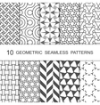 Seamless Geometric Pattern Set Ten Tiled vector image vector image
