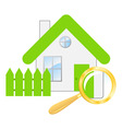 searching a house vector image