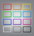 set colored horizontal frames with shadows vector image vector image