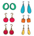 set of earrings vector image vector image