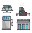 set of enviromental recycle ecology icon vector image vector image
