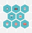 set of marketing icons flat style symbols with app vector image