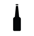 silhouette of glass bottle vector image vector image