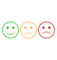 smiley face set smiley face icon happy and vector image vector image