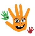 Smiling Palm Hands vector image vector image