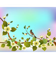 spring all wakes up flowers vector image vector image