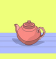 teapot stands on a table vector image