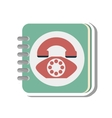 telephone agend isolated icon vector image vector image