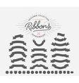Vintage Ribbon Set vector image vector image