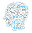 ways to lower your cholesterol text background vector image vector image