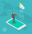 weather forecast online flat isometric vector image vector image