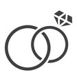 wedding rings glyph icon valentines day 10 vector image vector image