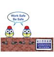 WORKERS WORK SAFE vector image vector image