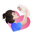 young asian mother with baby in her hands vector image