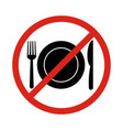 no eating signno food or drink allowed vector image