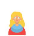 stylish blonde on a white background vector image
