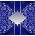 Lace frame with ethnic ornament vector image