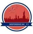 Independence day of America NY City skyline vector image