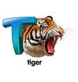 A roaring tiger vector image vector image