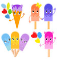 a set of different cartoon variants of eskimo on vector image vector image