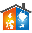 air conditioning symbol icon logo vector image vector image