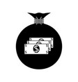 bag with money dollar vector image vector image