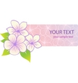 beautiful tropical floral banner vector image