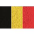 Belgium paper flag vector image