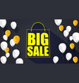 big sale text banner ready to print and use in vector image vector image