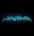 blue neon skyline kansas city city bright vector image vector image