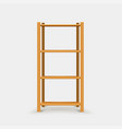 brown wooden shelf with shadow vector image vector image